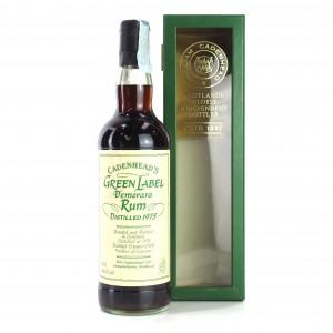 Cadenhead's 1975 Green Label Demerara Rum