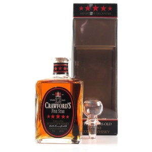 Crawford's Five Star 12 year Old Miniature Decanter 1980s 37.5cl