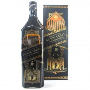 Johnnie Walker Black Label 12 Year Old 1 Litre / Art Deco Limited Edition.