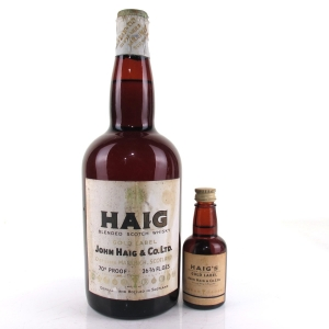 Haig's Gold Label 1960s / includes Miniature