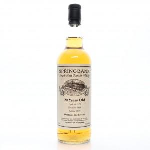 Springbank 1998 Single Cask 20 Year Old #378