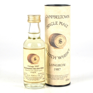 Longrow 1987 Signatory Vintage 8 Year Old Miniature 5cl