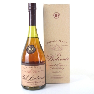 Balvenie 10 Year Old Founder's Cognac Bottle