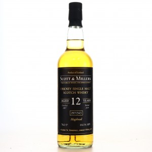Orkney Single Malt 2007 Scott and Millers 12 Year Old