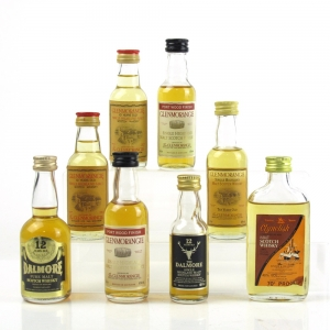 Tain Miniature Selection 8 x 5cl / Including Clynelish 1970s