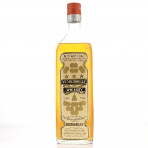 Old Bushmills 9 Year Old Irish Whiskey 1960s / Sposetti Import