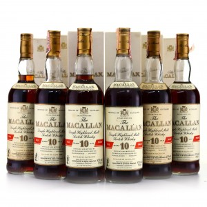 Macallan 10 Year Old Full Proof 1980s 6 x 75cl / Giovinetti Import - Case