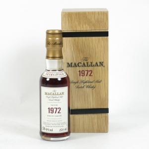 Macallan 1972 Fine and Rare Miniature 5cl Front