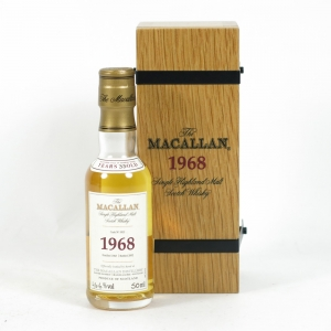 Macallan 1968 Fine and Rare 5cl Miniature Front