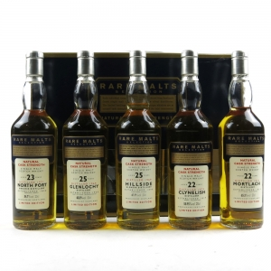 Rare Malts Collection 5 x 20cl Including Glenlochy / North Port / Hillside