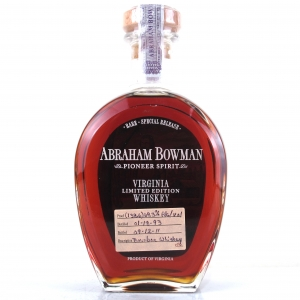 Abraham Bowman 1993 Cask Strength 18 Year Old Bourbon