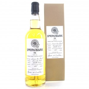 Springbank 2000 Jamaican Rum Barrel 15 Year Old