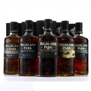 Highland Park Keystones Series 5 x 70cl / Hobbister, Shiel, Quercus, Yesnaby, Hillhead