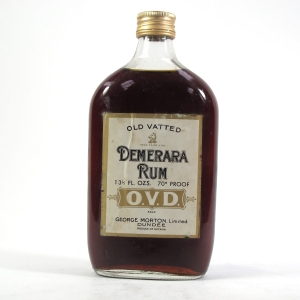 George Morton Old Vatted Demerara Rum 1970s Half Bottle