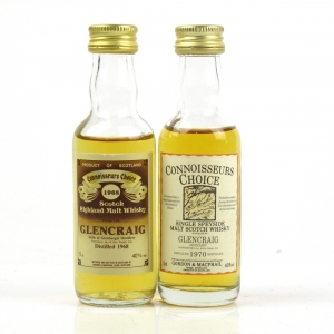 Glencraig 1968 and 1970 Gordon and McPhail 2 x 5cl