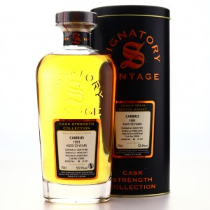 Cambus 1991 Signatory Vintage 23 Year Old Cask Strength