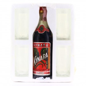 Kynara Artichoke Liqueur 1 Litre 1980s With 4 Glasses