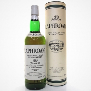 Laphroaig 10 Year Old 1980s / US Import