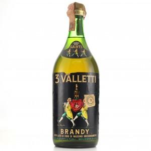 Sarti 3 Valletti Brandy 1 Litre 1960s