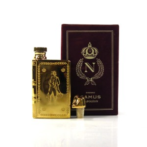 Camus Napoleon Bicentenary Cognac Miniature Decanter 1969 / 22k Gold Coated