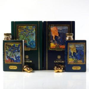 Camus Special Reserve Miniatures x 2 / Van Gogh Decanters