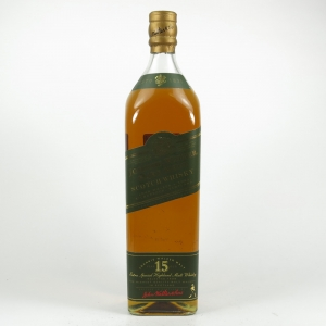 Johnnie Walker Green Label 15 Year Old 1990s 1 Litre