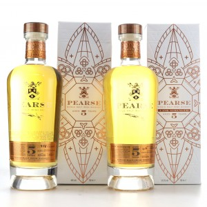Pearse 5 Year Old Single Malt Irish Whiskey 46% and Cask Strength 59.3% / 2 x 70cl