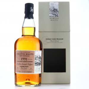 Glen Scotia 1991 Wemyss Malts / Leather Bound Ledger