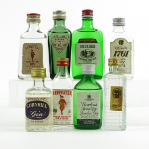 Miniature Gin Selection 1960s/70s x 8