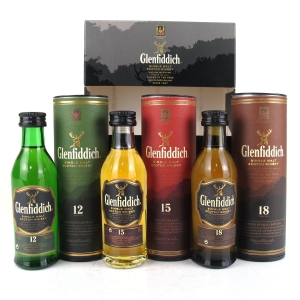 Glenfiddich Miniature Gift Pack Selection 3 x 5cl