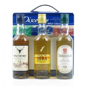 Whyte and Mackay Connoisseur's Discovery Collection / Jura, Dalmore and Tamnavulin 3 x 33.33cl