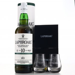 Laphroaig 10 Year Old Cask Strength Batch #011 / Includes 2 x branded Glasses