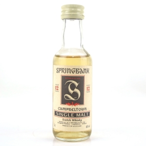 Springbank 12 Year Old Red Thistle Miniature 5cl