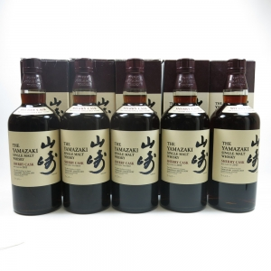Yamazaki Sherry Cask Selection 5 x 70cl (Including 2013) Front