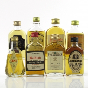 Miscellaneous Single Malt Miniatures Circa 1970s 8 x 5cl