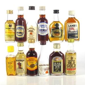 Miscellaneous Rum Miniature Selection x 12