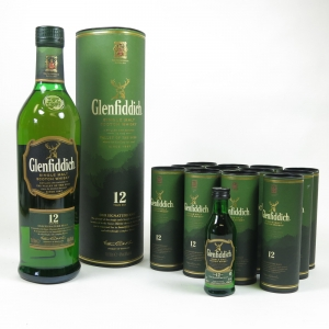 Glenfiddich 12 Year Old and Miniatures x 12