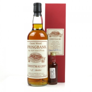 Springbank Staff Exclusive Christmas 2007 With Sample