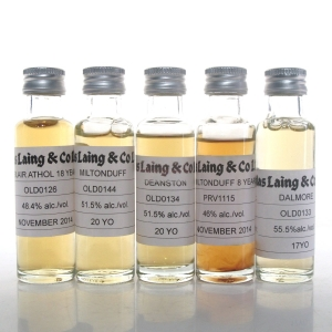 Douglas Laing Highland Selection 5 x 2cl Samples / Including Blair Athol 18 Year Old
