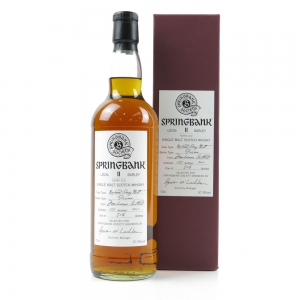 Springbank 1999 Single Cask 11 Year Old / Local Barley Springbank Society
