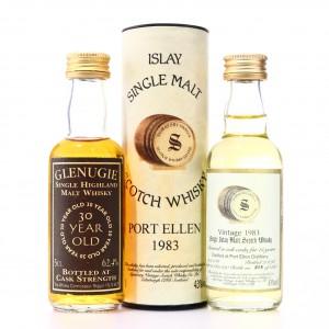 Glenugie 30 Year Old & Port Ellen 1983 Miniatures x 2