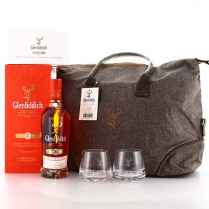 Glenfiddich 21 Year Old Reserva Rum Cask Finish / with Messenger Bag & 2 x Glasses