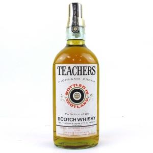 Teacher's Highland Cream 1 Litre 1970s / Duty Free
