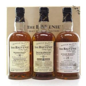 Balvenie Malt Master's Selection 3 x 20cl / including 1974 25 Year Old Single Barrel