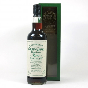 Cadenhead's 1975 Green Label Demerara Rum Front