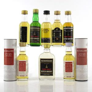 Lowland Miniature Selection x 8 / includes Auchentoshan 1970s