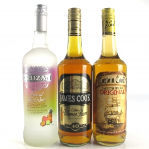 Miscellaneous Rum Selection 2 x 70cl & 1 x 75cl