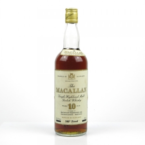 Macallan 10 Year Old 100 Proof 1970s