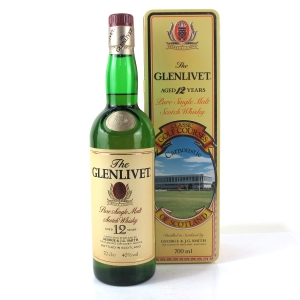 Glenlivet 12 Year Old / Carnoustie Golf Course Tin
