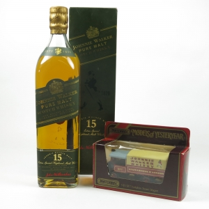 Johnnie Walker Green Label 15 Year Old 1980s and Johnnie Walker Van